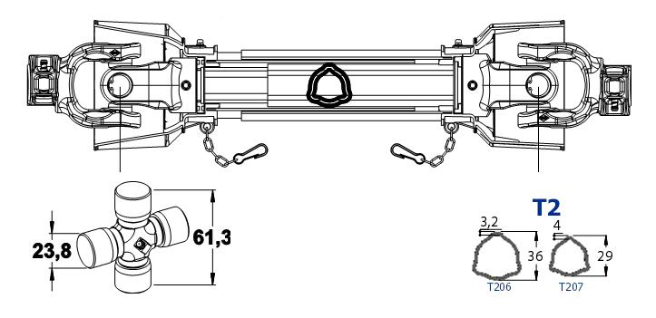 KARDAN 24X61 L-1350 SK
