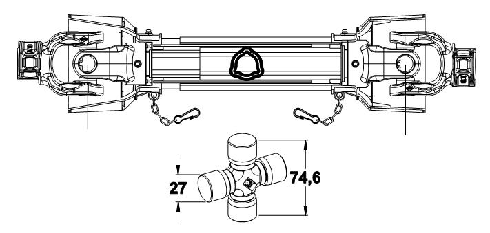 KARDAN 27X75 L-900 BEZ PLASTIKE SK