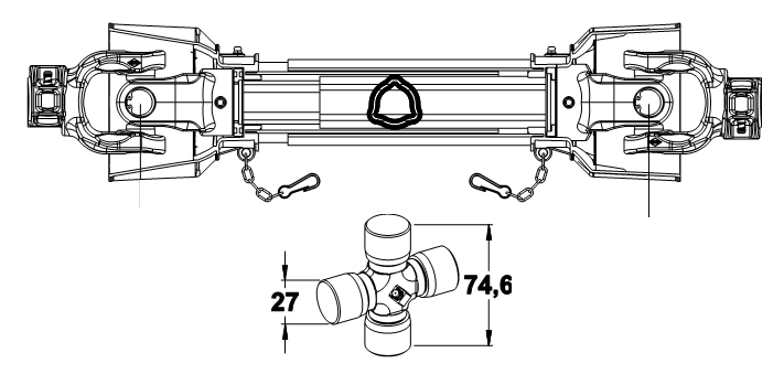 KARDAN 27X75 L-900 SK